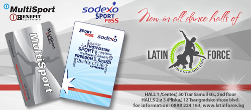 All dancing styles with Multisport or Sodexo Sport Pass card in the Latin Force halls!
