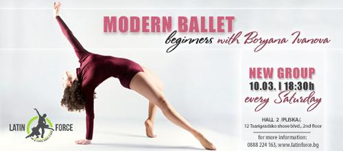 MODERN BALLET – NEW group for BEGINNERS | 10.03.18