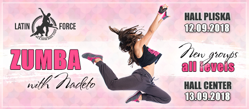 ZUMBA – NEW groups with Nadya | September, 2018