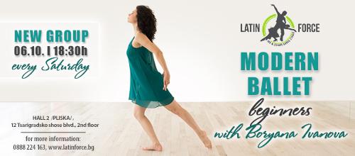 MODERN BALLET – NEW group for BEGINNERS with Boryana Ivanova | 06.10.18