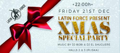 Коледно салса парти и томбола с подаръци по случай 5 години зали Latin Force | 21.12.2018