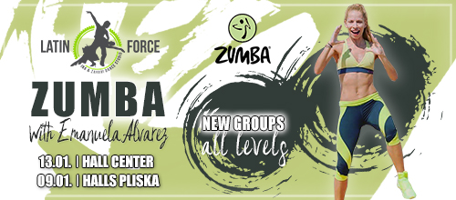 ZUMBA – NEW groups with Emanuela Alvarez | January, 2019