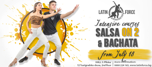 SALSA On 2 AND BACHATA  – INTENSIVE courses for BEGINNERS | 18.07.19
