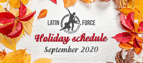 Holiday schedule | September, 2020